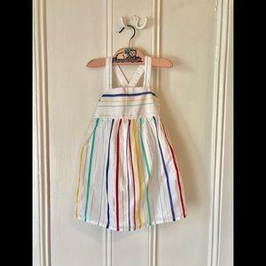 Gap Stripe Lurex Pinafore Dress Sz2T⚡️